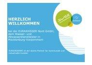 Vortrag Eurawasser Nord GmbH - Netzwerk KMU-Kompetenz