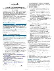 Garmin GHP Compact Reactor™ Hydraulic Autopilot Starter Pack - Guide de configuration