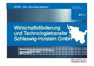 """WTSH – Ihre """"One-Stop-Agentur"""" - der Handwerkskammer Lübeck"""