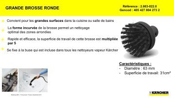 Karcher Karcher Grande brosse ronde - fiche produit