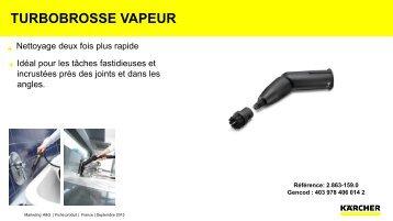 Karcher Turbobrosse Karcher Turbobrosse vapeur - fiche produit