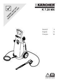 Karcher 770 Mxs Mode Demploi