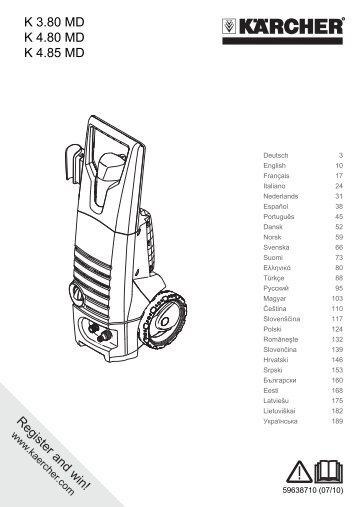 Karcher Nettoyeur haute pression K 480 M + - manuals