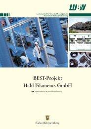 BEST-Projekt Hahl Filaments GmbH - Umwelttechnologie und ...