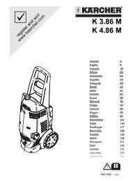 Karcher K 3.86 M+ - manuals