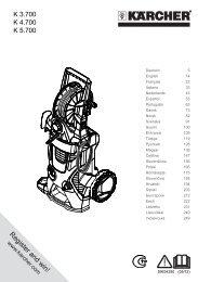 Karcher K 3.700 - manuals