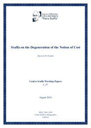 Sraffa on the Degeneration of the Notion of Cost