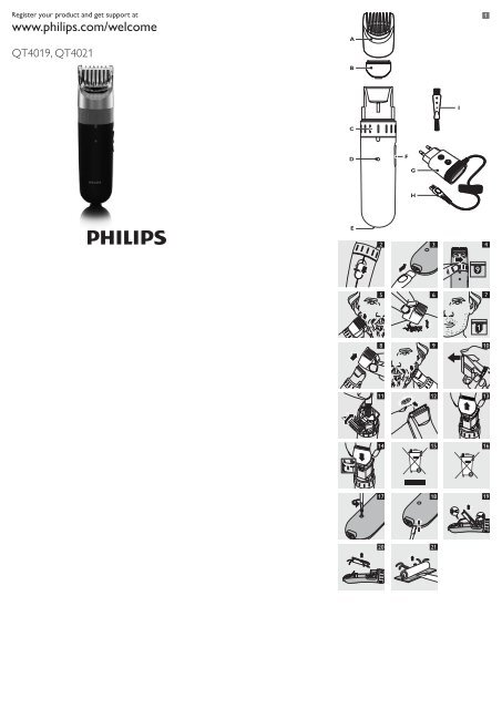 philips stubble and beard trimmer manual and user guide manualsmania. Black Bedroom Furniture Sets. Home Design Ideas