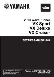 Yamaha VX Cruiser - 2013 - Manuale d'Istruzioni Deutsch