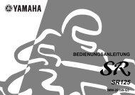 Yamaha SR125 - 2000 - Manuale d'Istruzioni Deutsch