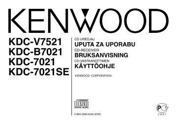 Kenwood KDC-B7021 - Car Electronics Croatian, Swedish, Finnish ()