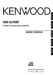 Kenwood HM-537MP - Home Electronics French, German, Dutch, Italian, Spanish (2004/10/7)
