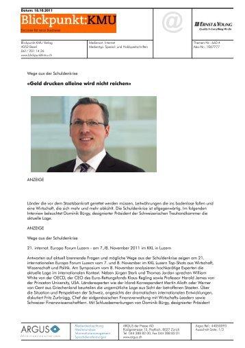 Geld drucken alleine wird - Home - Ernst & Young - Schweiz