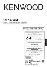 Kenwood HM-437WM - Home Electronics Italian (2005/5/10)
