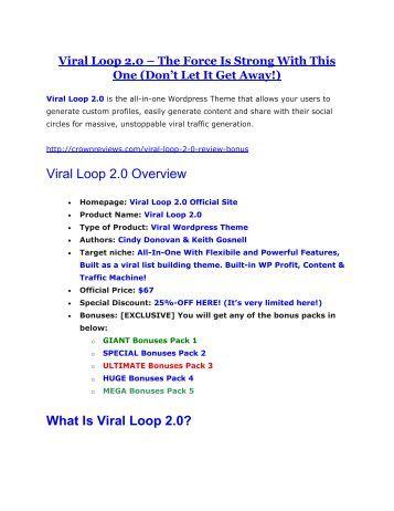 Viral Loop 2.0 review - Viral Loop 2.0 (MEGA) $23,800 bonuses