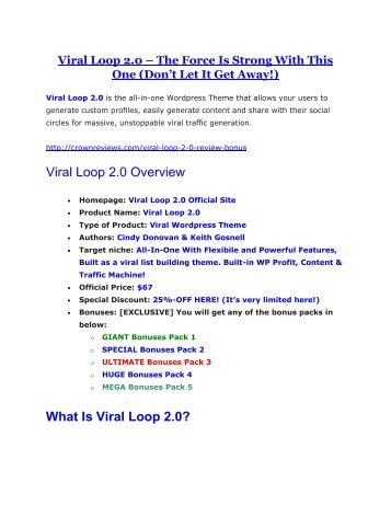 Viral Loop 2.0 review - Viral Loop 2.0 (MEGA) $23,800 bonuses
