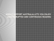 Kindle Support Australia Lets You Enjoy Uninterrupted And Continuous Reading