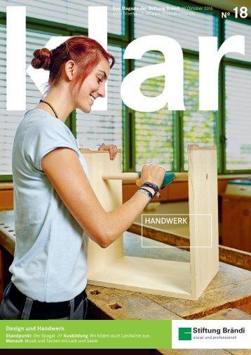 Magazin klar Nr. 18 Stiftung Brändi