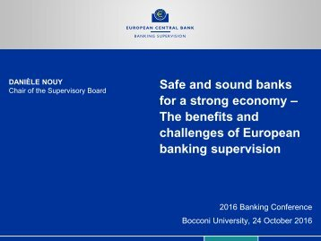 challenges of European banking supervision