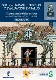 XIII JORNADAS DE GESTIÓN Y EVALUACIÓN EN SALUD