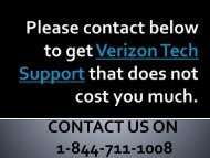 Verizon tech support