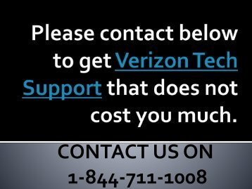 1-844-711-1008 Verizon Tech Support | Verizon Customer Care