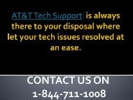 1-844-711-1008 AT&T Tech Support | AT&T Customer Support