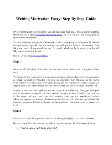 4 Steps to an Effective Scholarship Essay
