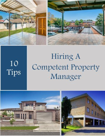 10 Tips For Hiring A Competent Property Manager