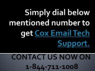 1-844-711-1008 Cox Email Tech Support | Cox Email Password Reset