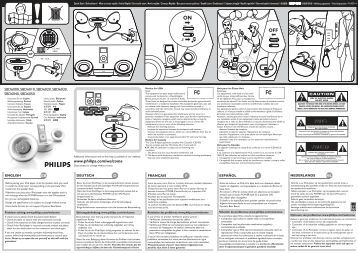 Philips Speaker Dock - User manual - FRA
