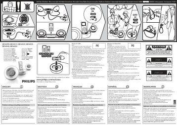 Philips Speaker Dock - User manual - NLD