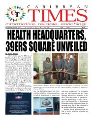 Caribbean Times 21st Issue - Monday 24th October 2016