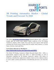 4D Printing Market - Global Trends & Forecasts to 2019 - 2025