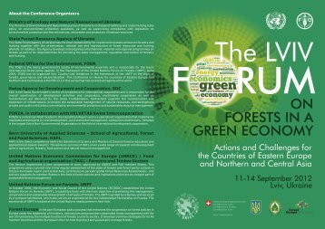 The Lviv Forum on Forests in a Green Economy 11-14 September ...