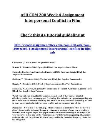 ASHFORD COM 200 COM/200 COM200 Interpersonal Communication Complete / Full / Entire course