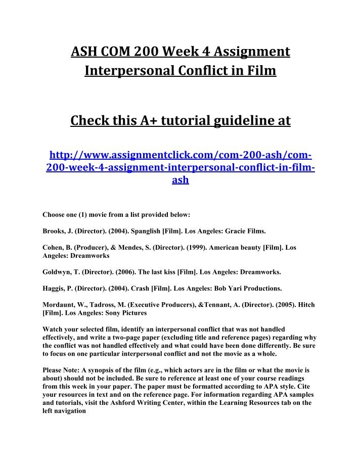 identify an interpersonal conflict that was not handled effectively in the film crash by paul haggis