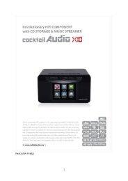 CocktailAudio X10 Handbuch deutsch Version 6.0
