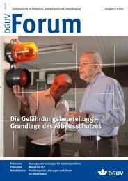 Die Gefährdungsbeurteilung – Grundlage des Arbeitsschutzes - DGUV ...