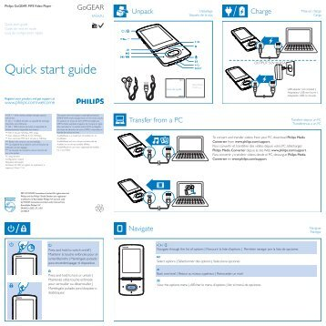philips gogear mp4 player user manual