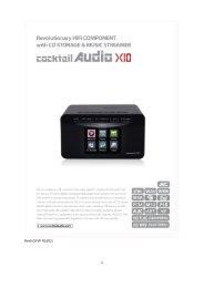 CocktailAudio X10 Manual english Version 6.0