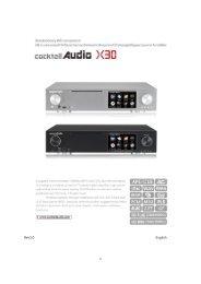 CocktailAudio X30 Manual english Vesion 1.0