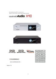 CocktailAudio X40 Anleitung deutsch Version 1.0