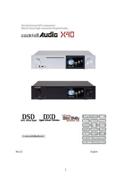 CocktailAudio X40 Manual english Version 1 0