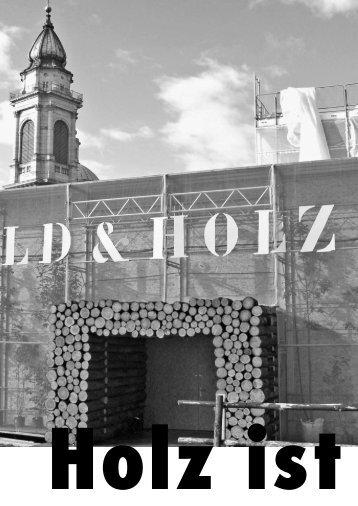 Hier könnte nächstes Jahr Ihr Inserat stehen! - Pro Holz Solothurn