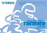 Yamaha XT660Z - 2015 - Manuale d'Istruzioni Italiano