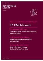 17. KMU-Forum - Musik - Hochschule Luzern