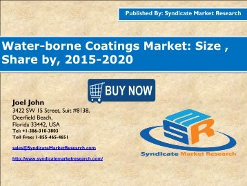 Water-borne Coatings market