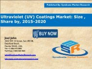 Ultraviolet (UV) Coatings Market
