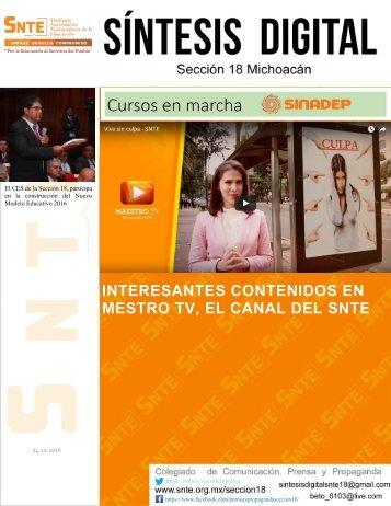 INTERESANTES CONTENIDOS EN MESTRO TV EL CANAL DEL SNTE
